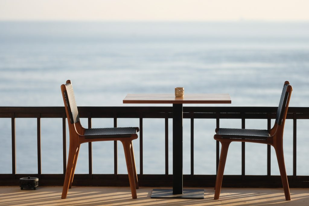 breakfast table for two